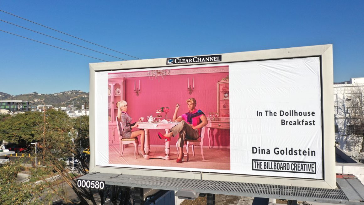 Breakfast by photographer Dina Goldstein on Los Angeles billboard for Billboard Collective project
