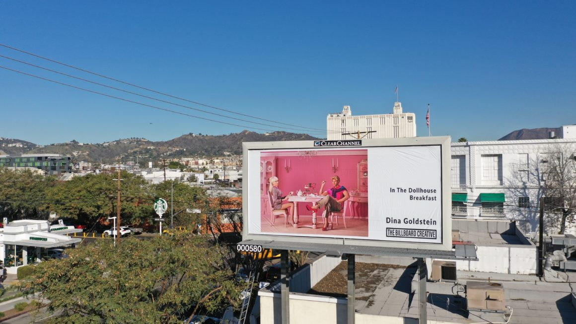 Breakfast by photographer Dina Goldstein on Los Angeles billboard
