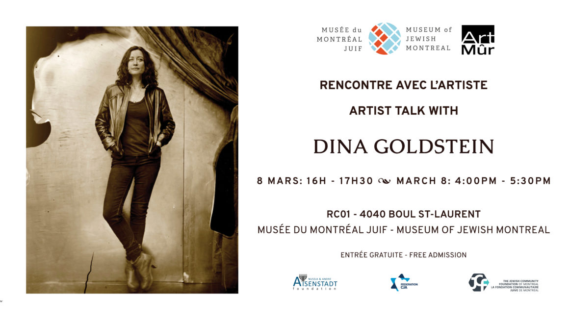 Dina Goldstein Snapshots From The Garden Of Eden talk announcement at Montreal Jewish Museum