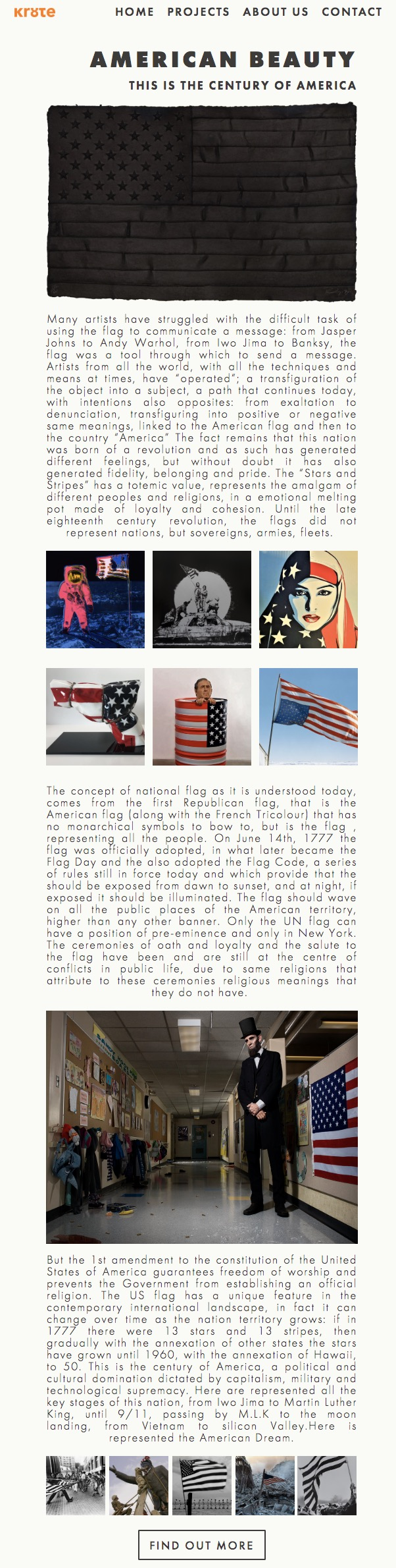 Group exhibition of artist who include the American flag in their works.