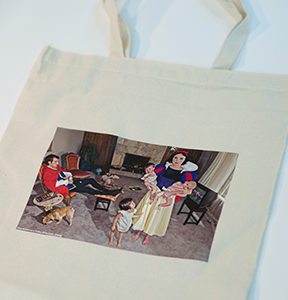 Canvas bag with art by Dina Goldstein Snowy from Fallen Princesses series