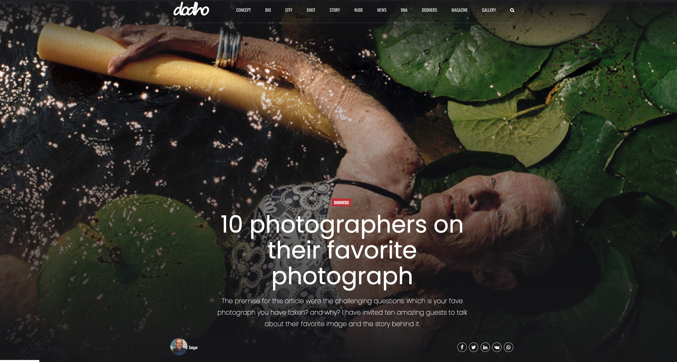 Dodho Magazine on Photographer's favorite images Photography journal