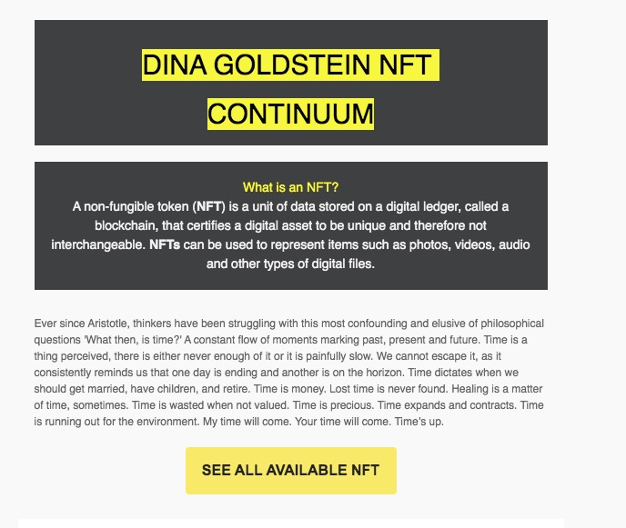 Dina Goldstein NFT
