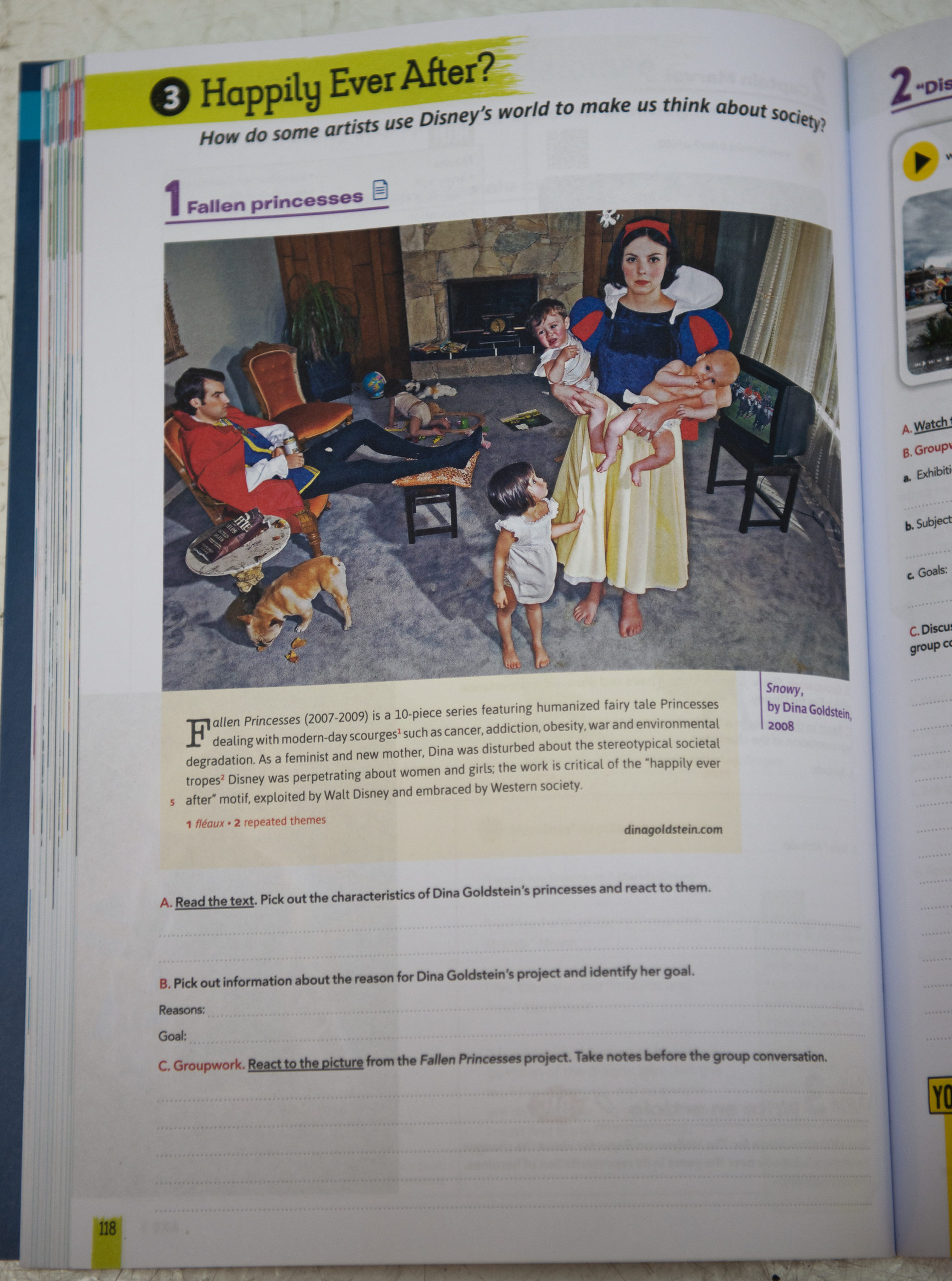 Dina Goldstein Snowy in English Textbook France Editions Magnard